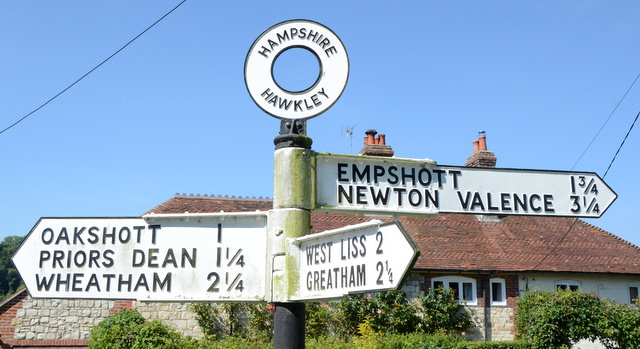 Village signpost
